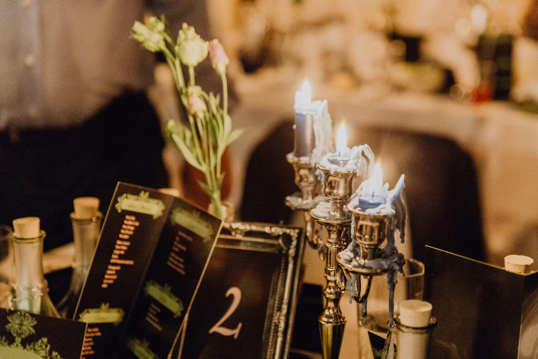 Tischdekoration Gothic Hochzeit
