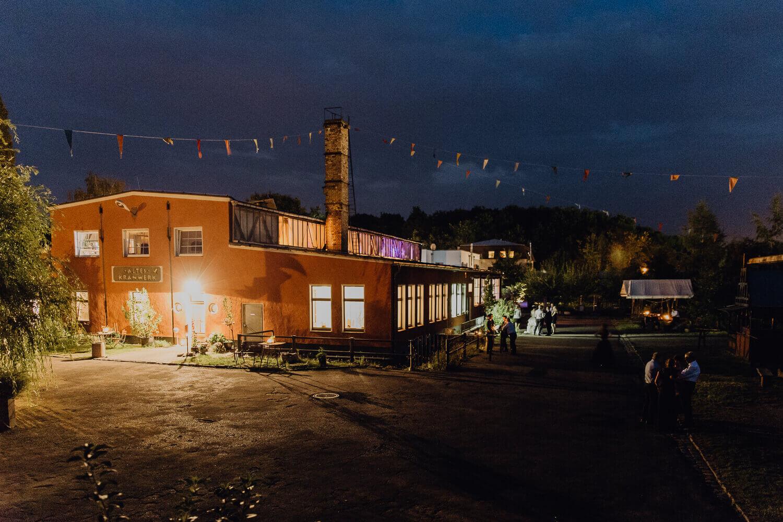 Altes Kranwerk Naunhof Nachtaufnahme Hochzeit
