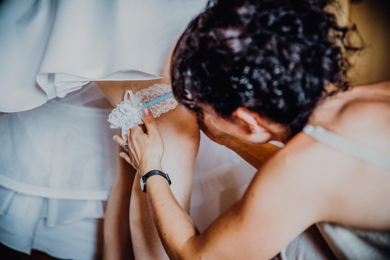 Getting Ready Braut Wolkenstein